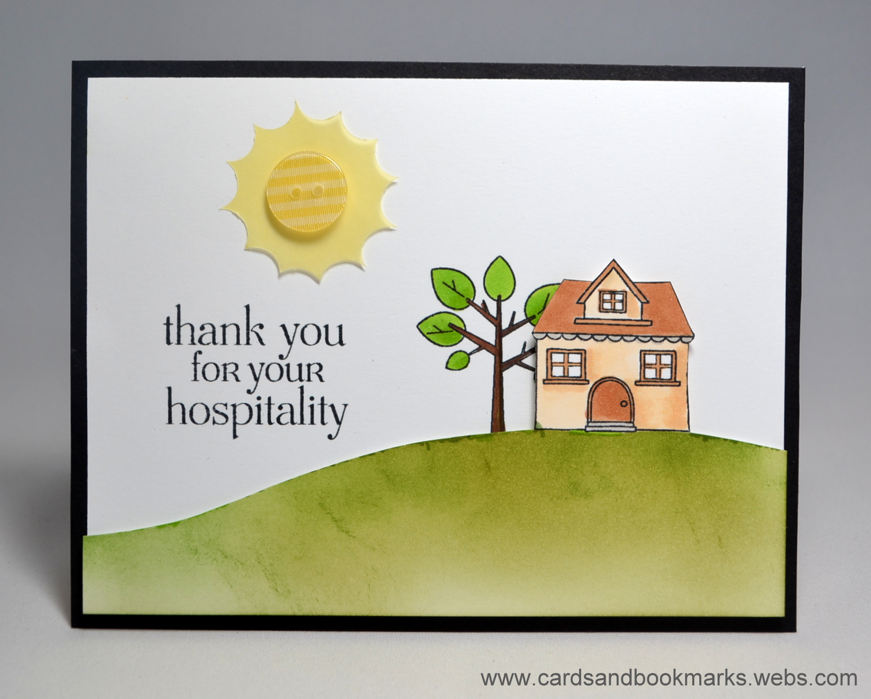 Card Thank You For Your Hospitality