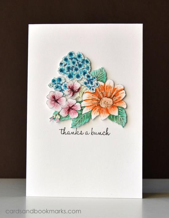 Copic colored Flower bouquet