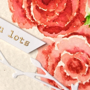 Water color Rose-close up-001
